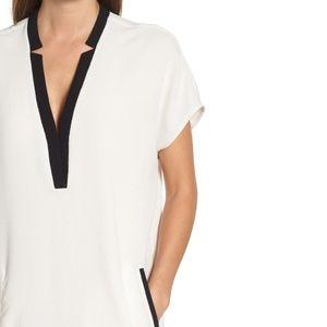 ASTR V-Neck Crepe Shift Dress (NWOT)
